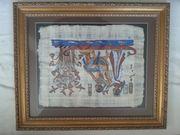 Echtes handgemaltes Papyrus-Bild aus Ägypten