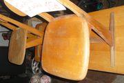 Schüler Holzbank und Stühle antik