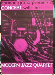 MODERN JAZZ QUARTET original Tourplakat