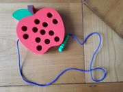 Apfel Fädelspiel Motorikspielzeug Lernspielzeug