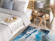 Teppich blau-grau Flecken-Motiv 80 x