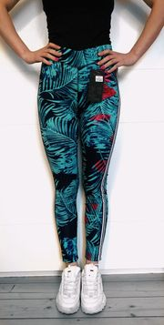 Damen Hose Leggings Stretch-Sporthose bunt