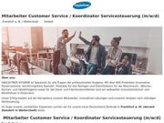 Mitarbeiter Customer Service Koordinator Servicesteuerung