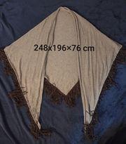 Dreieckiges Tuch mit Fransen